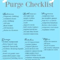 January purge checklist