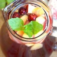 Sparkling Cranberry Sangria Mocktail