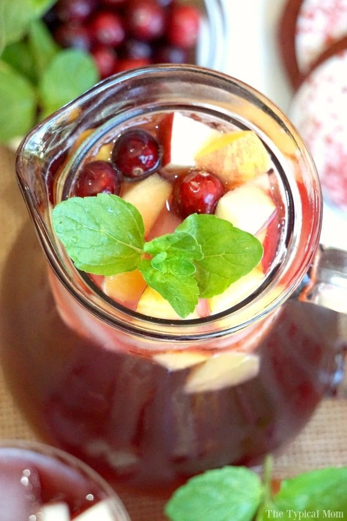 sparkling cranberry sangria