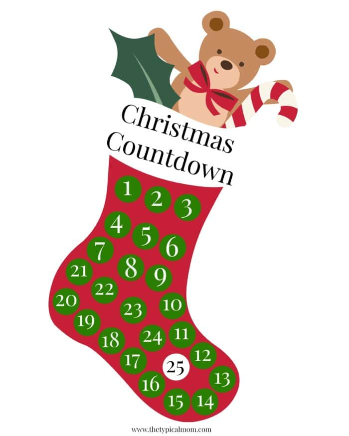 Christmas countdown calendar · The Typical Mom