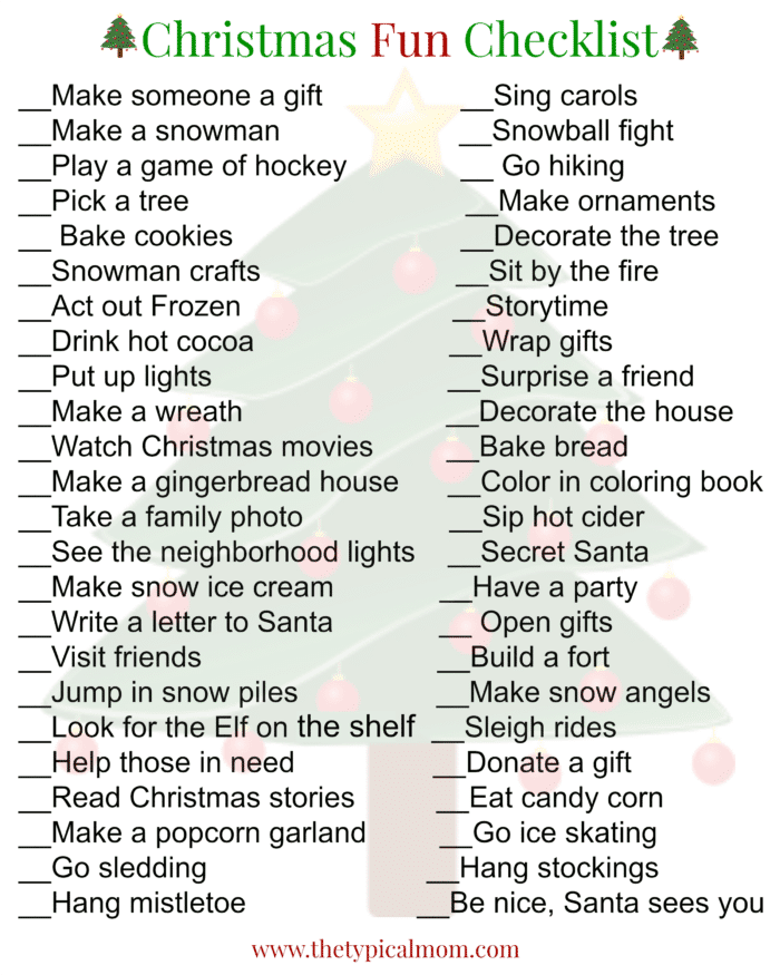 picture about Printable Christmas Activities identified as Xmas Actions for Little ones · The Regular Mother