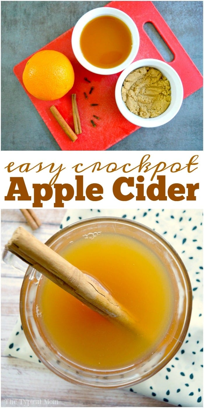 Crockpot hot apple cider is amazing, especially during the holidays! This one is so easy to make and stays warm for hours in the slow cooker! #crockpot #slowcooker #apple #cider #hot #drinks
