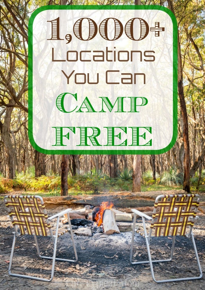 places you can camp free
