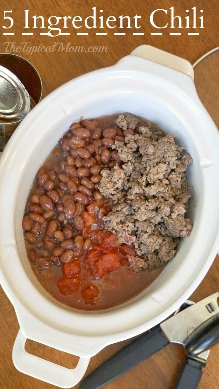 5 ingredient crockpot chili recipe