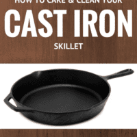 Cast Iron Skillet Care