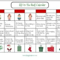 Elf on the Shelf Calendar of Mischief