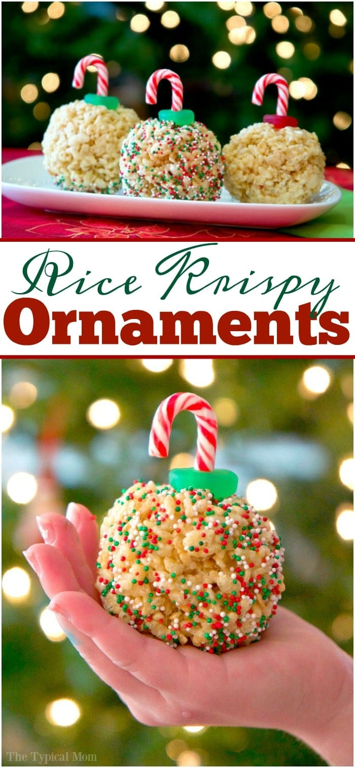 Rice Krispy Treat Ornaments · The Typical Mom