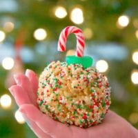Rice Krispy treat ornaments