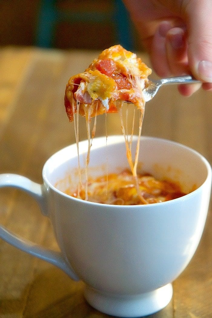 pizza in a mug recipe