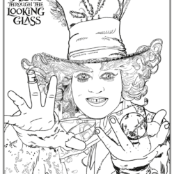 alice through the looking glass free printable