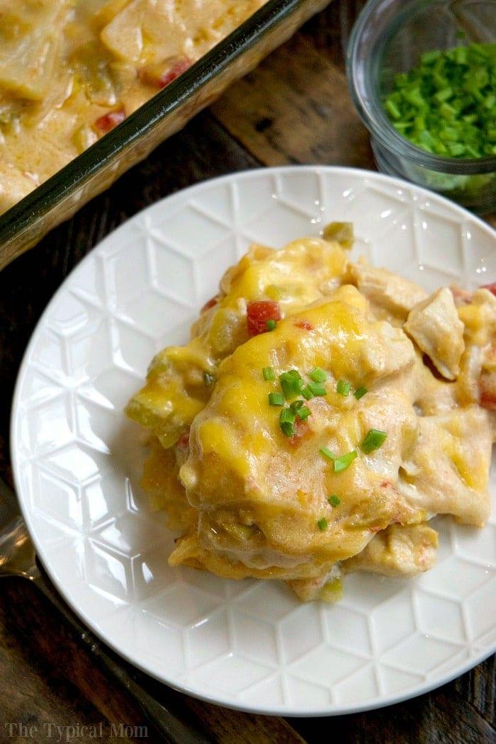 easy chicken tortilla casserole recipe