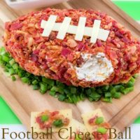Football Shaped Cheese Ball