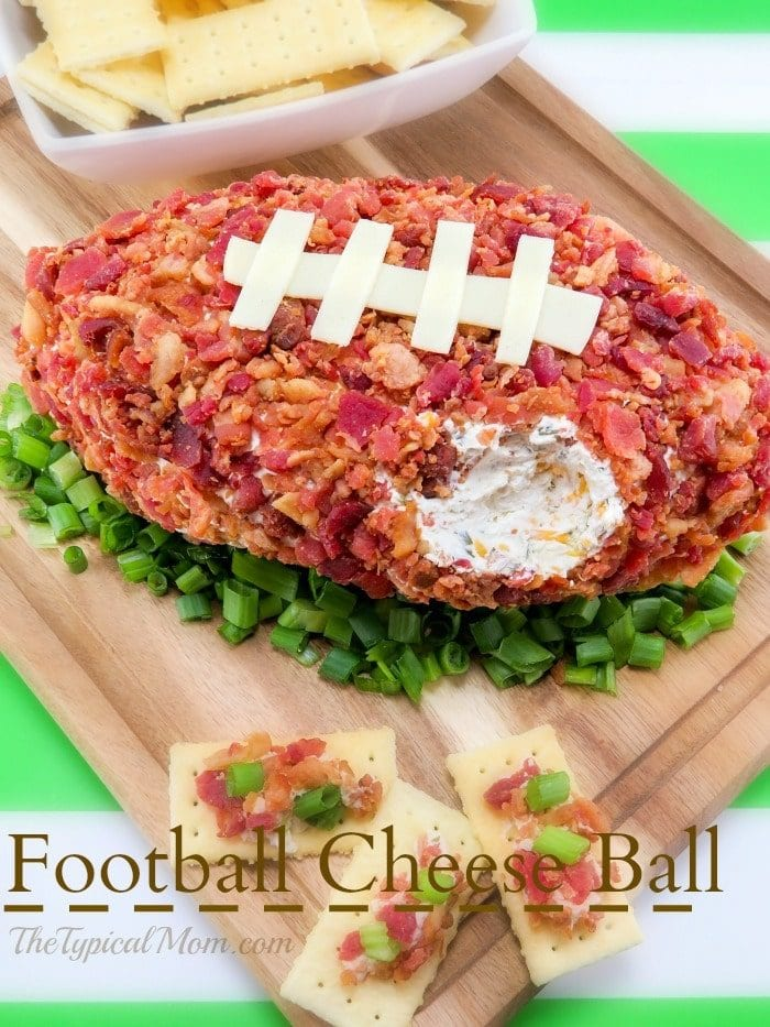 football shaped cheese ball
