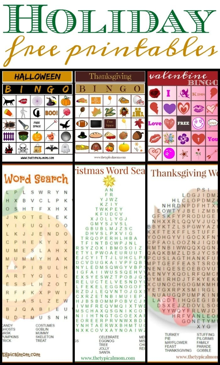 Free Holiday Printables The Typical