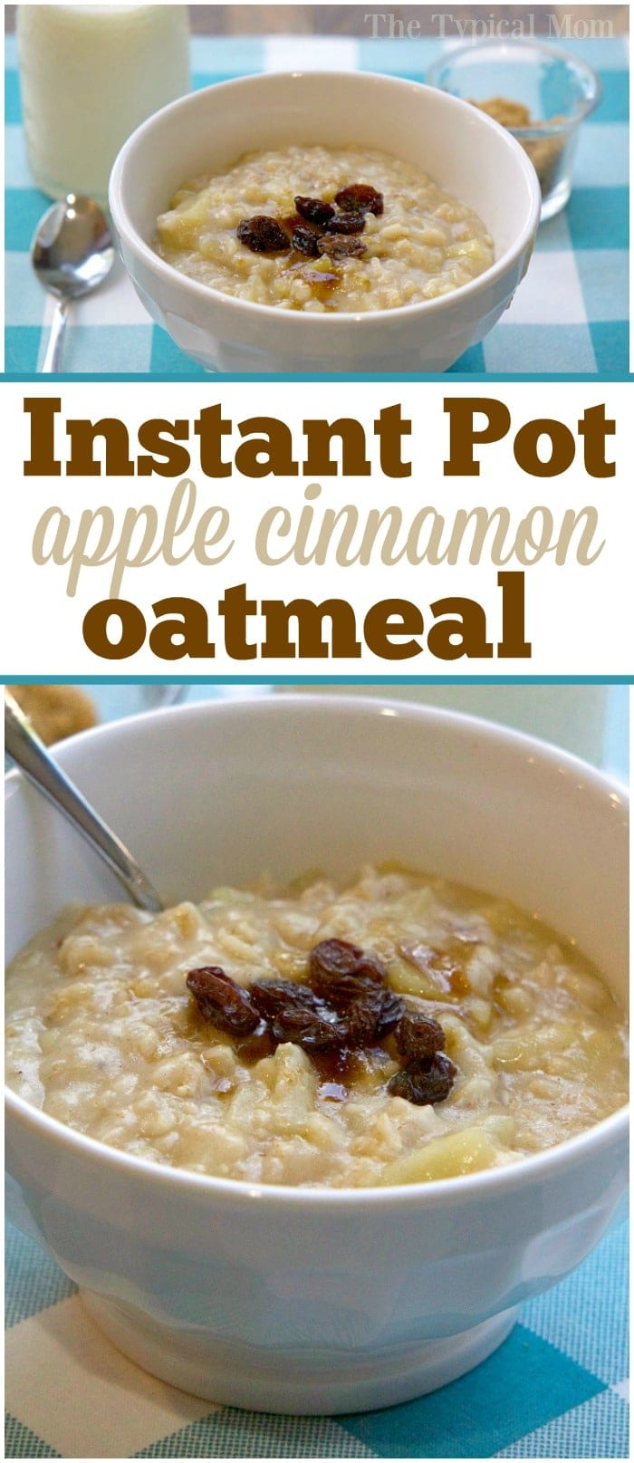 This apple cinnamon Instant Pot oatmeal recipe only takes 5 minutes to cook and tastes amazing! An easy pressure cooker breakfast that the whole family will enjoy and is a healthy meal too. Creamy and packed with flavor and fruit inside you'll surely add this to your weekly menu. My kid's favorite. #instantpot #oatmeal #easy #recipe #apple #breakfast #cinnamon #healthy #pressurecooker