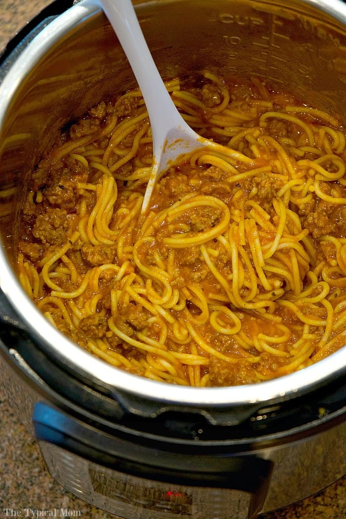 Instant pot spaghetti the typical mom for Best instant pot pressure cooker recipes