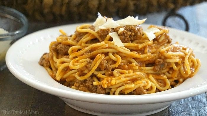 instant pot spaghetti recipe