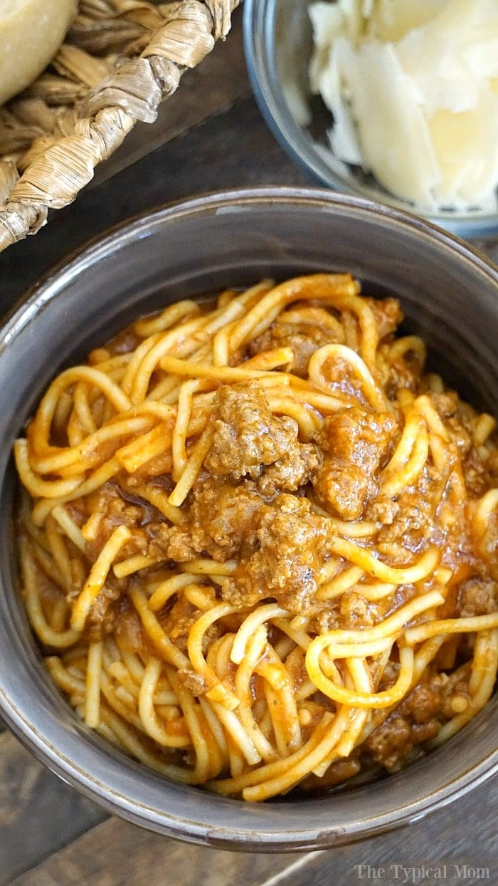 instant pot spaghetti · the typical mom