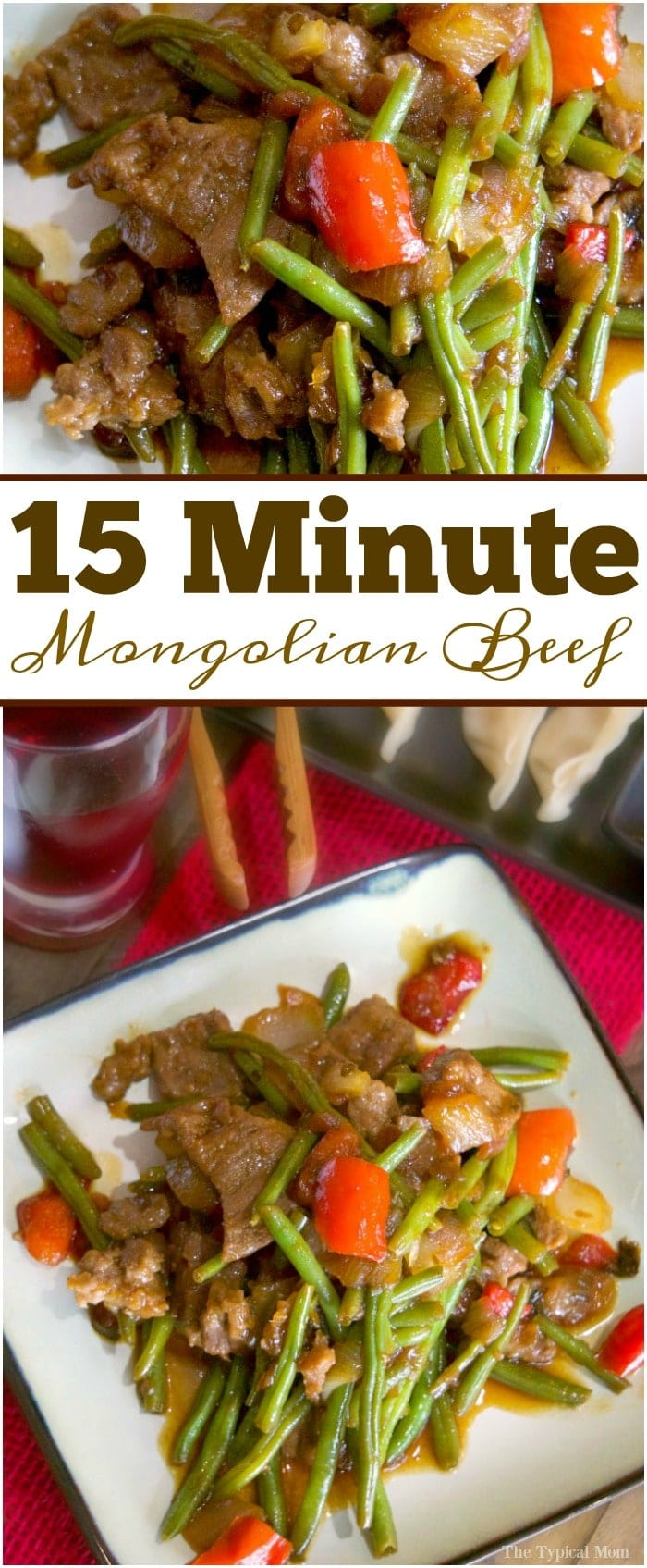 Easy 15 minute Mongolian Beef and dumplings that taste amazing! Perfect dinner for two idea. Really easy meals to make for your family too, my kids love it.