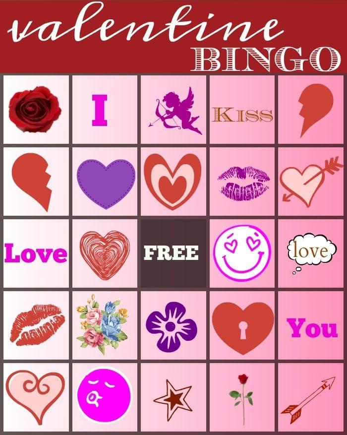 valentine bingo the typical mom. Black Bedroom Furniture Sets. Home Design Ideas