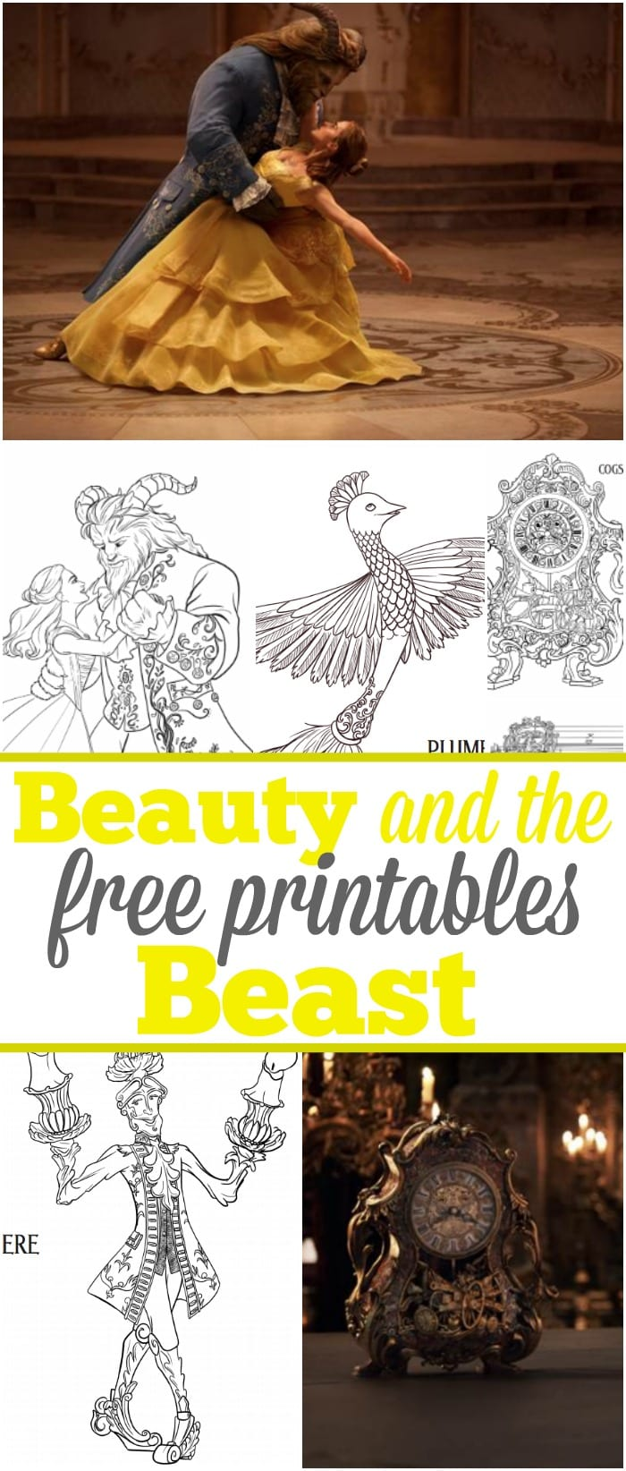 6 Beauty And The Beast Free Printables The Typical Mom