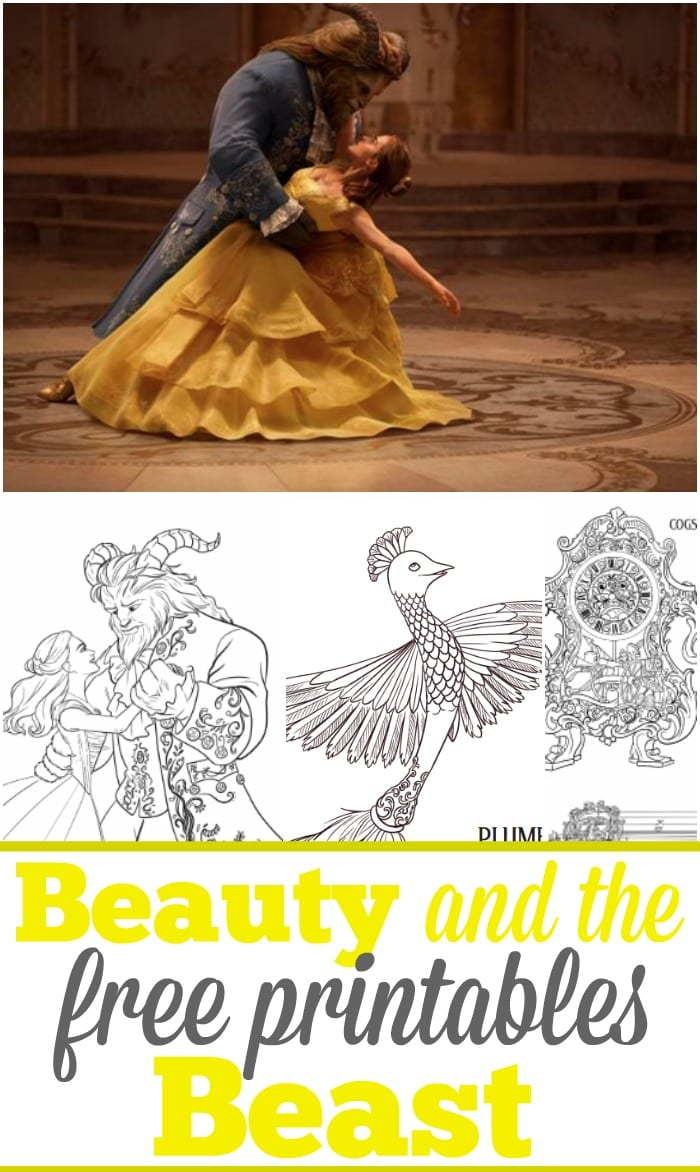 6 Beauty And The Beast Free Printables · The Typical Mom