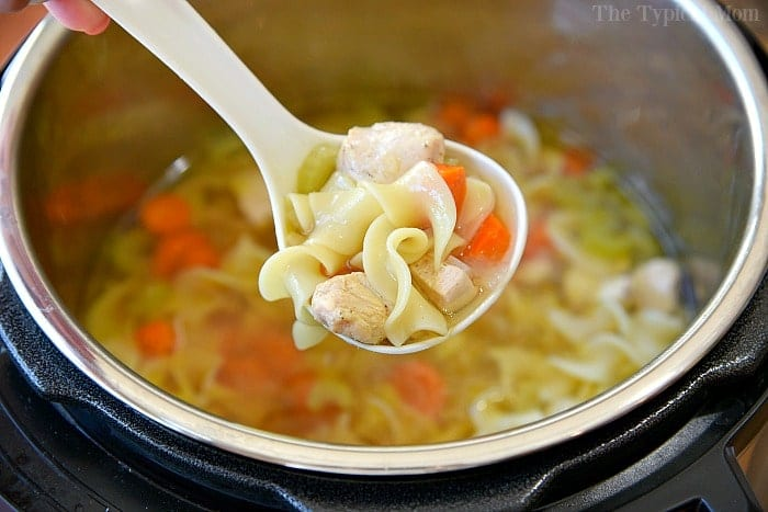 5 Minute Instant Pot Chicken Noodle Soup Pressure Cooker Crock Pot Express