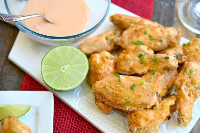 sriracha baked chicken wings