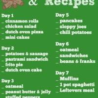 Easy Camping Recipes and Meal Planning