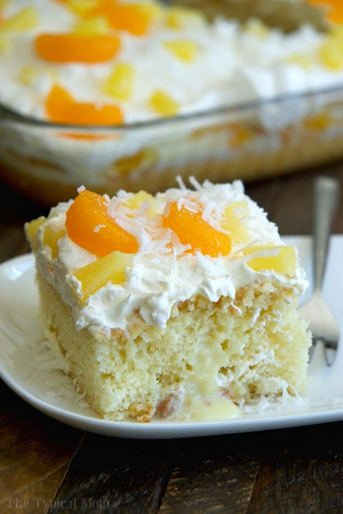 tropical poke cake