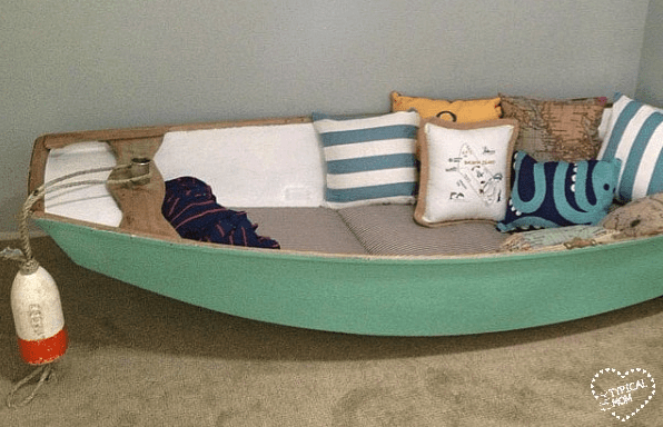 boat reading nook
