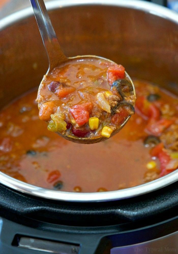 easy instant pot taco soup recipe