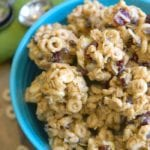 no bake peanut butter cereal bites