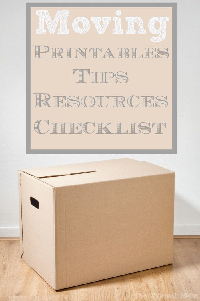 Printable Moving Checklist · The Typical Mom
