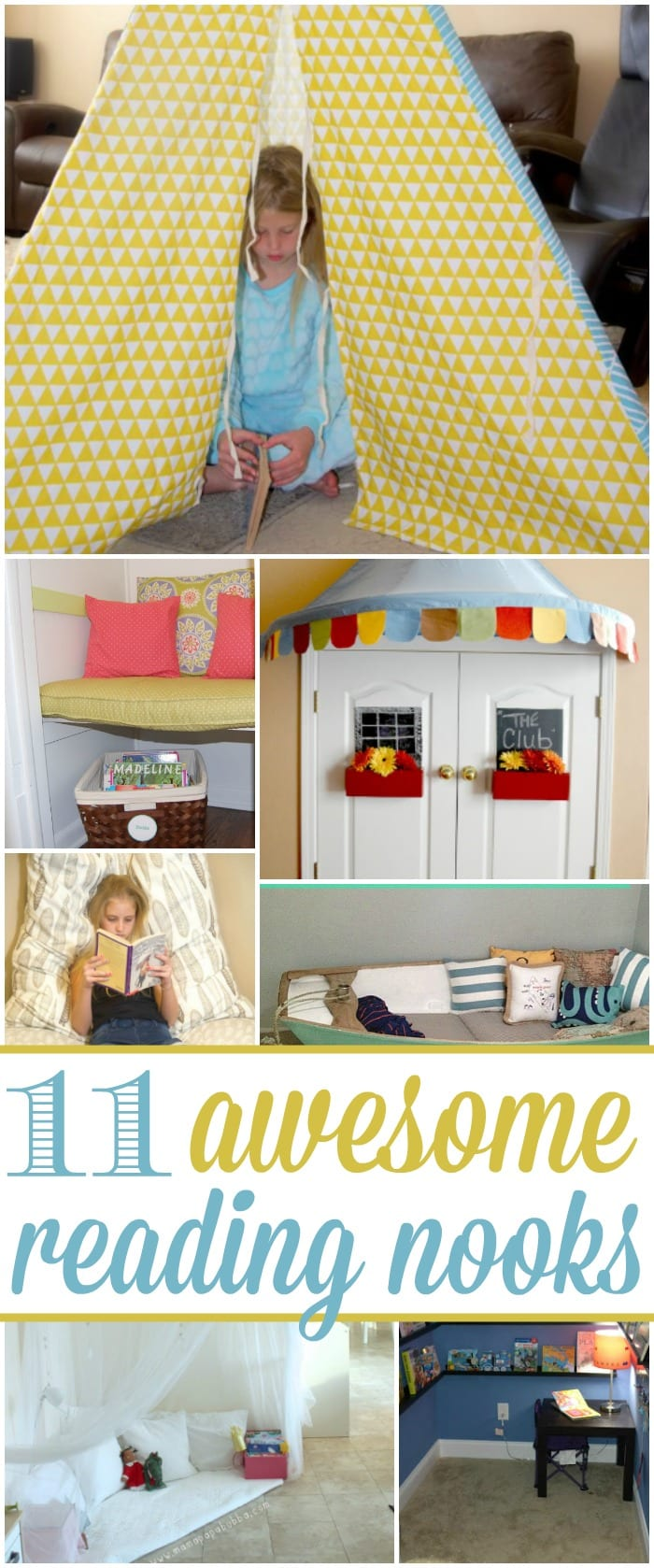 11 awesome reading nook ideas that rock are going to have you smiling from ear to ear, and your kids are going to want one tomorrow!