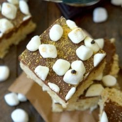 Sticky Smores Rice Krispy Treats