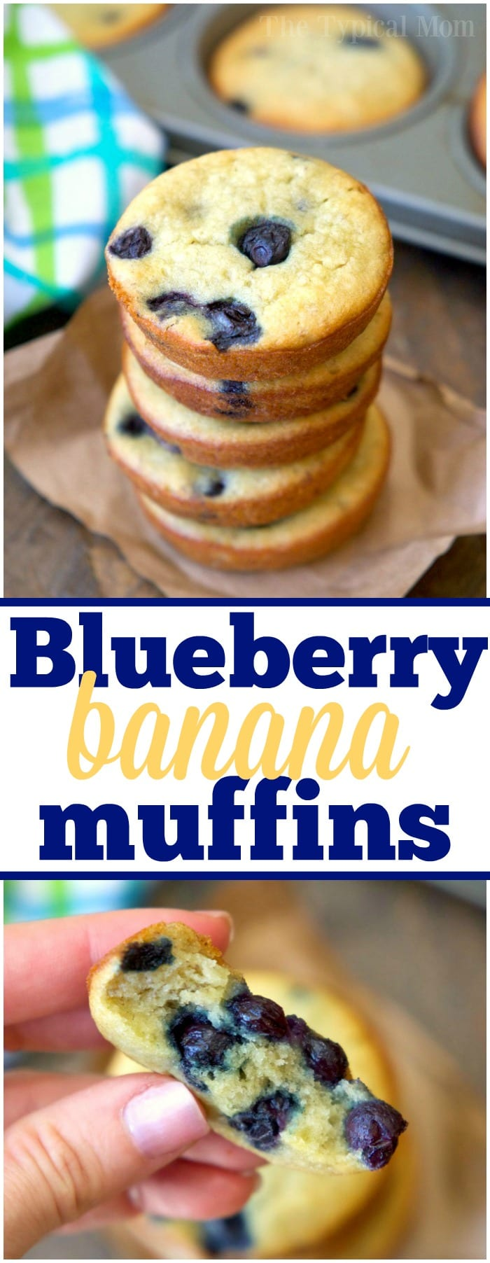 Sour Cream blueberry banana muffins are so moist and a great way to use overripe bananas! Easy to mix together they're perfect for breakfast or brunch.