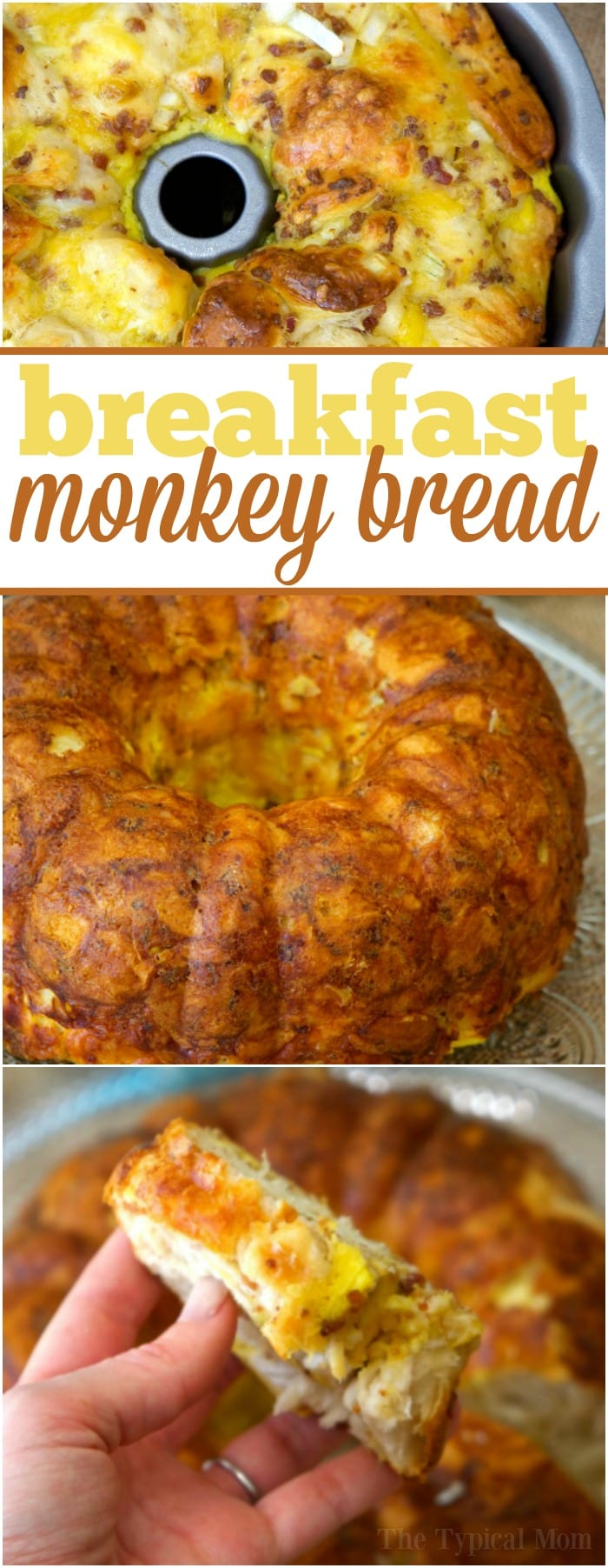 This bacon egg and cheese breakfast bundt cake tastes amazing and is so easy to make!! If you've never thought of making a bundt cake breakfast it is sure to be a hit during the holidays. A pretty way to present your favorite breakfast items and a great way to take breakfast on the go. #breakfast #bundtcake #cake #bread #bacon #egg #cheese #biscuits