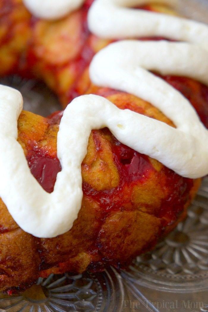 cherry cheesecake monkey bread