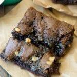 chocolate caramel toffee cake mix brownies