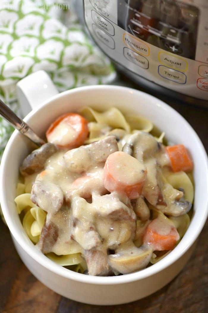 easy instant pot beef stroganoff recipe