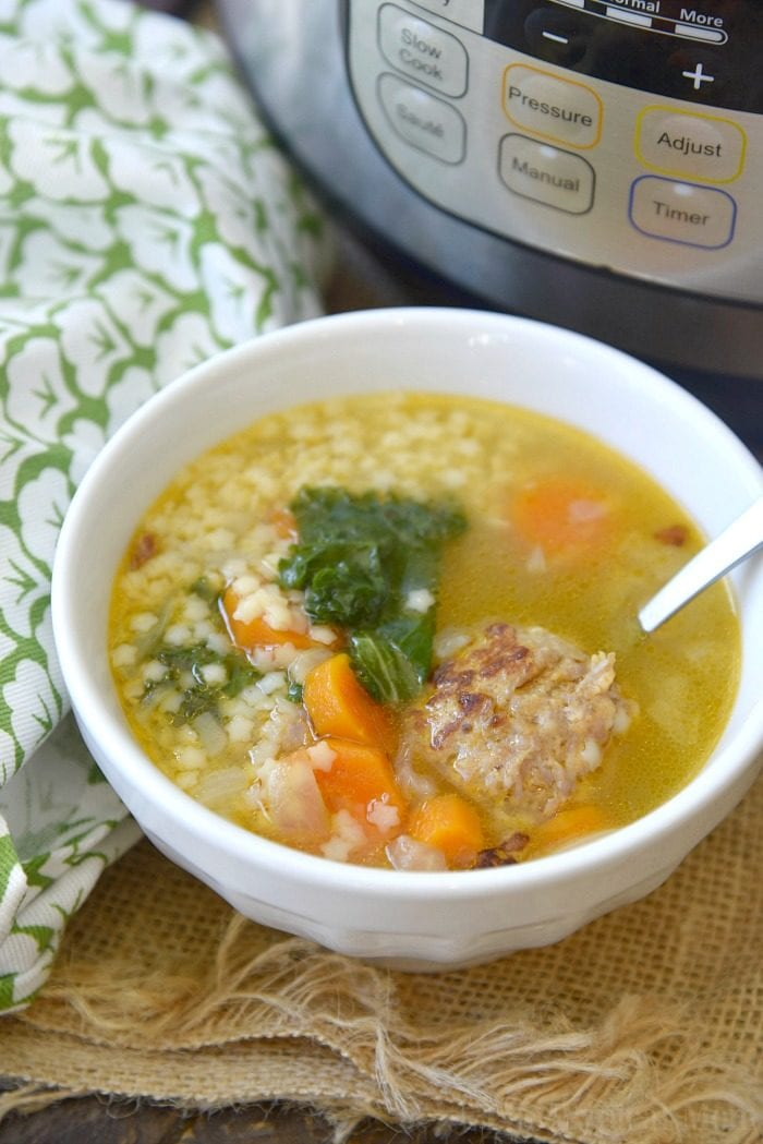 instant pot italian wedding soup 2