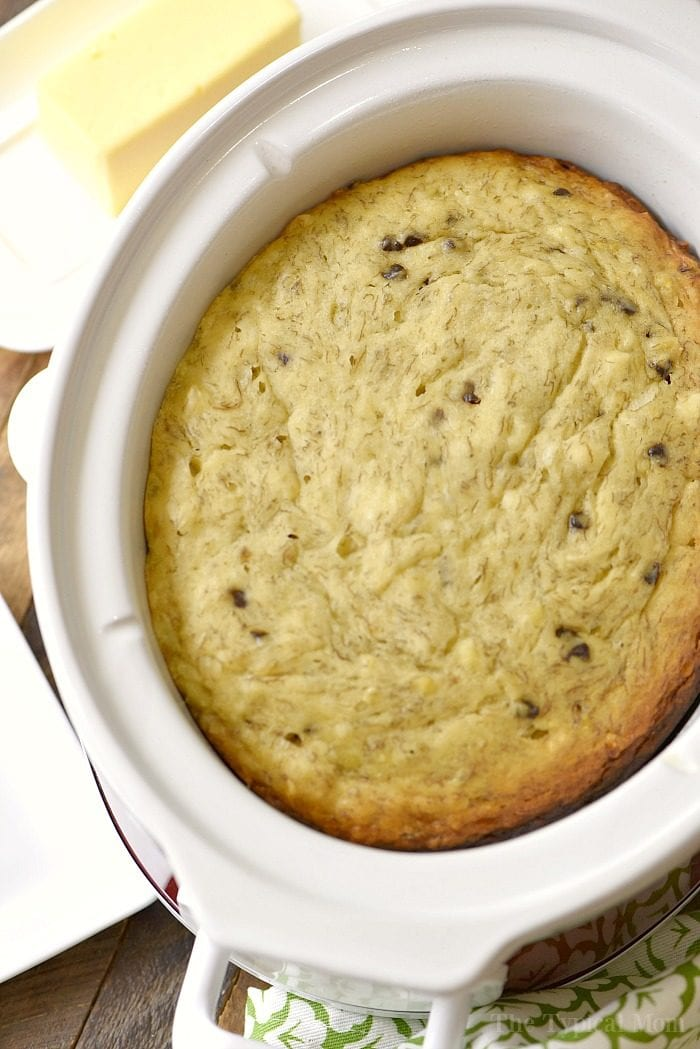 slow cooker chocolate chip banana bread