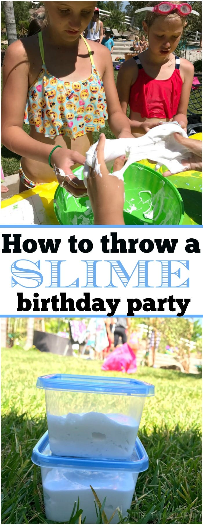It's all the rage! This is how to throw a slime birthday party which will make you the coolest parent around and the kids will have an absolute blast! With just a few ingredients and some outdoor fun you too can throw the perfect slime party for a boy or girl. I'ts fun for all ages. #slime #birthdayparty #party #birthday #boy #girl #games #activities