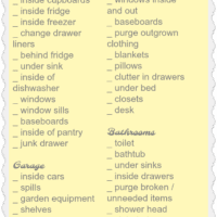 Summer House Cleaning List