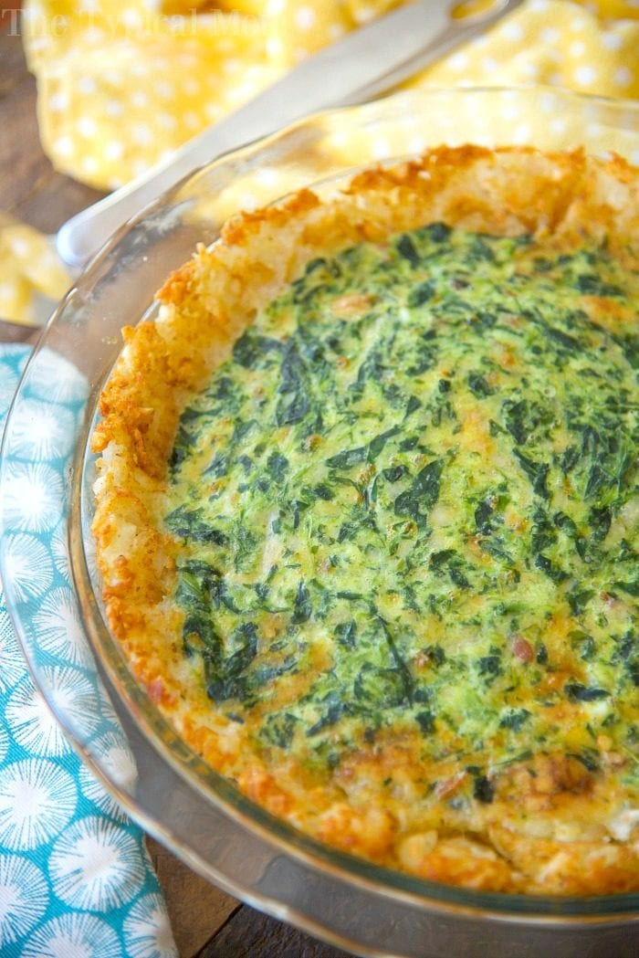 tater tot crusted spinach quiche 4