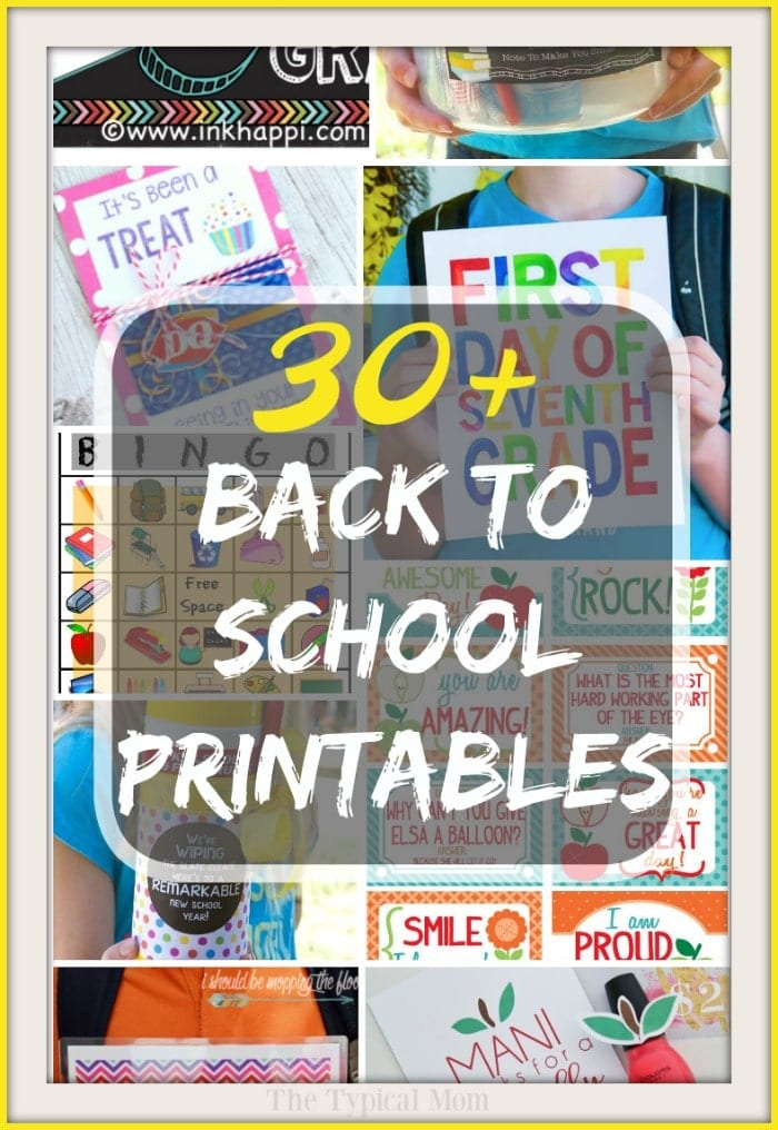 graphic relating to Free Printable Back to School Signs identified as Free of charge Back again Toward College Printables · The Regular Mother