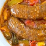 crockpot sausage and vegetables 2