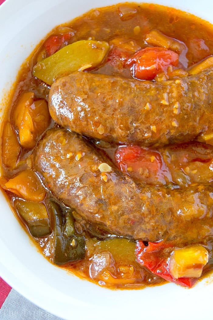 crockpot sausage and vegetables 2