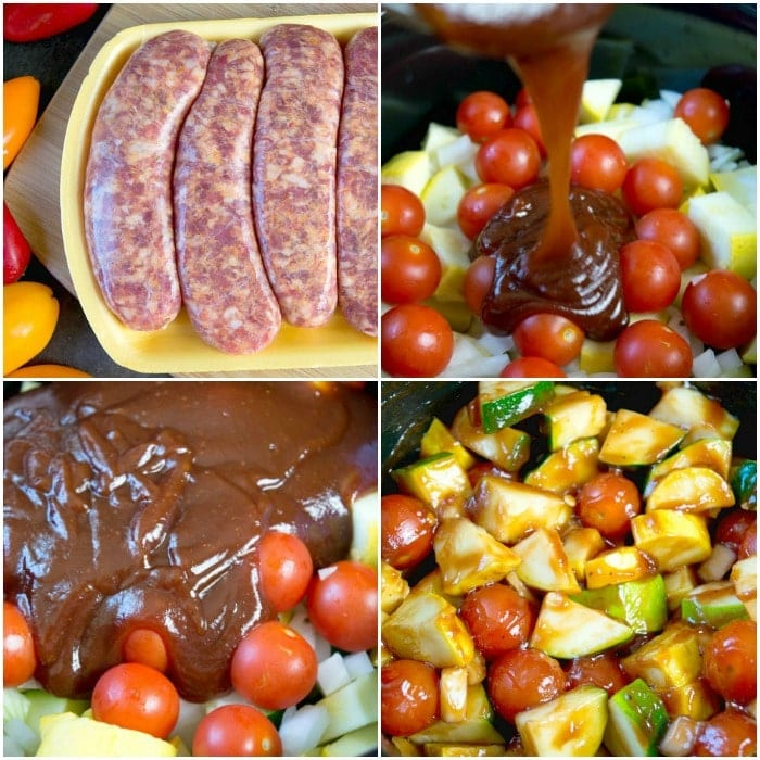crockpot sausage and vegetables